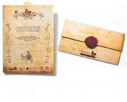 Design Gráfico Convite Casa dos Quadrinhos